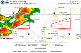 Illinois Tornado Map by Tornado Warning Including Vienna Il Cypress Il Simpson Il