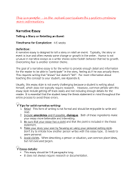 Example Of A Personal Essay For College Write A Narrative Essay How To Write A Narrative Essay