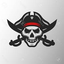 top 10 pirate skull and swords symbol mascot logo stock vector drawing