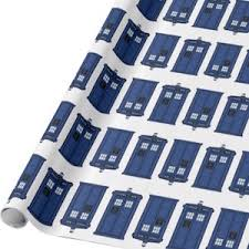 dr who wrapping paper tardis blue and white wrapping paper go doctor who
