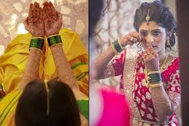 9 indian states and the colour of bangles worn by the brides there