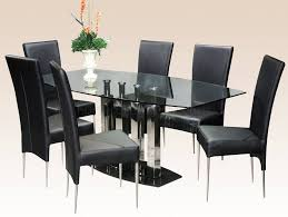 Rectangle Glass Dining Table Set Dining Marvelous Rectangular Glass Dining Table And Black