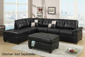 Black Leather Reclining Sofa Living Room Valencia Black Bonded Leather Recliner Sofa Seater