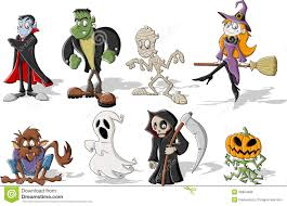 free animated halloween clipart halloween monsters stock photo image 26804660