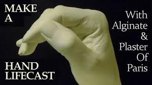 make a hand lifecast with alginate u0026 plaster of paris youtube