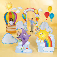 Vbs Decorations Up U0026 Away Vbs Decorations The Sky U0027s The Limit Fun Ideas By
