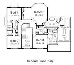 2nd floor plan barrymoore 8003 4 bedrooms and 3 baths the house designers