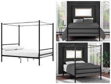 Black Canopy Bed Frame Canopy Bed Frame Ebay