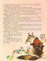 pigs vintage illustration storybook print
