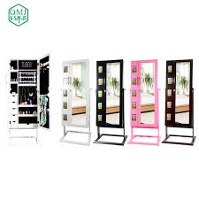 new luxury four colors large floor standing cabinet jewelry