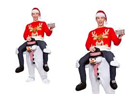 carry me snowman mens christmas mascot fancy dress costume os ebay