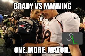 Brady Manning Meme - monday meme brady vs manning the sports lounge show