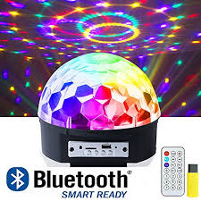 led disco ball light ihoven disco ball party lights 9 colors rotating led disco stage dj