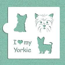 i my yorkie cookie and craft stencil