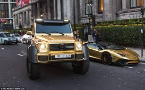 mercedes truck 6x6 flashy fleet saudi sheikh shows golden mercedes g63 amg 6x6