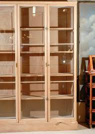 Armoire With Glass Doors Bookcase Knotty Pine Floating Shelves Knotty Pine Bedroom