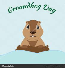groundhog day cards groundhog day card stock vector olesyavovk81 180442340