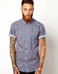 liberty shirt in floral emma georgina print with short sleeves in