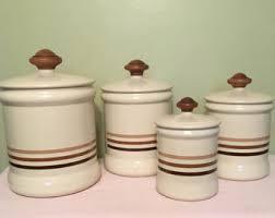 antique kitchen canisters vintage canister set etsy