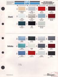 daihatsu paint chart color reference
