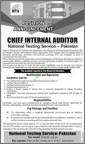 Internal Audit Job Description For Resume by National Testing Service Chief Internal Auditor Jobs In Nts