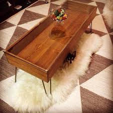 rectangular wood hairpin coffee table urban outfitters inspired hairpin leg coffee table made in kc mo