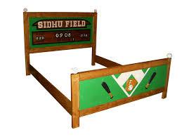 Queen Bed Designs Custom Made Queen Bed Frame Sports Theme Baseball Football