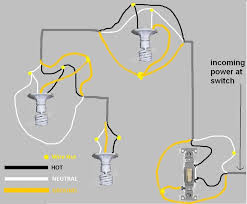 switch and 3 light wiring diagram is this correct electrical