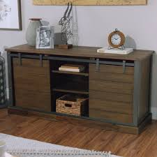 Media Storage Shelves by Wood Barn Door Storage Cabinet Rustic Media Console Consoles