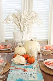 coastal centerpieces coastal thanksgiving table decor thanksgiving table coastal