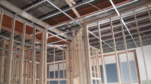 How To Sheetrock A Ceiling by Drywall Suspended Grid Showroom Drywall Suspended Ceiling Grid