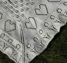 free pattern knit baby blanket lace baby blanket with little hearts free knit pattern knitting bee