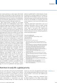 Resume Example Singapore by Nutrition In Early Life A Global Priority The Lancet
