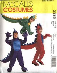 Girls Size 5 Halloween Costumes Mccall U0027s Sewing Pattern 2335 Childs Boys Girls Size 5 6 Dinosauer