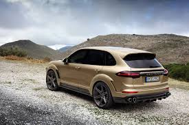 porsche suv 2015 black porsche cayenne turbo gets topcar vantage treatment in gold