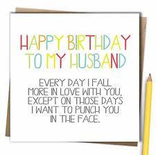 card for husband husband birthday card ebay