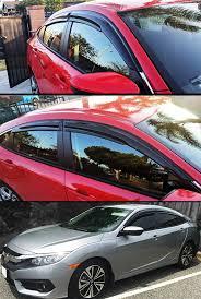 red subaru crosstrek 2012 2017 subaru xv crosstrek 3d jdm mugen style smoked window