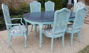 blue painted dining table contemporary outdoor vintage dining tables and chairs with bright