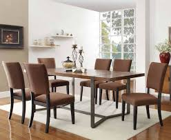 wood and metal dining table sets draperies and blinds dining room window treatment ideas dining room
