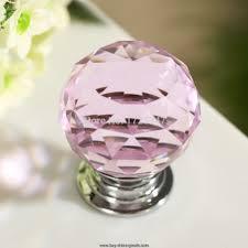 5x30mm crystal glass pink door cabinet knob drawer kitchen handle