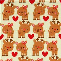 pale green reindeer fabric santa express
