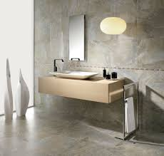 fascinating floating vanity in beige tone and rectangular single