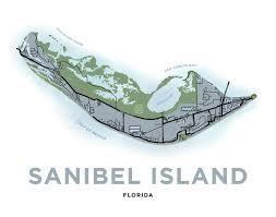 Map Of Sanibel Island Florida by Sanibel Island Map Print Florida U2013 Jelly Brothers
