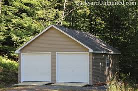Double Car Garage by Garages U0026 Large Storage Multi Car Garages Backyard Unlimited