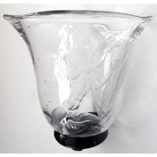 Engraved Glass Vases A Good Quality Swedish Art Deco Etched Glass Vase Of An Undersea