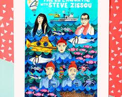Team Zissou Halloween Costume Bill Murray Steve Zissou Portrait Aquatic Art Bill