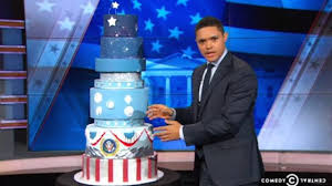 trevor noah got a hold of trump u0027s inauguration cake and is open to