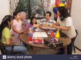 birthday for hispanic family presents cake