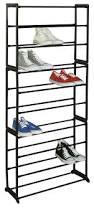 amazon com sunbeam 30 pair shoe rack black home u0026 kitchen