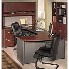 Bush Desks With Hutch Bush Furniture Hansen Cherry Corsa Series U Shaped